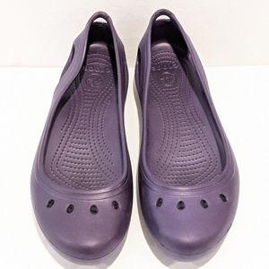 Crocs women's purple Kadee flats sz 11W